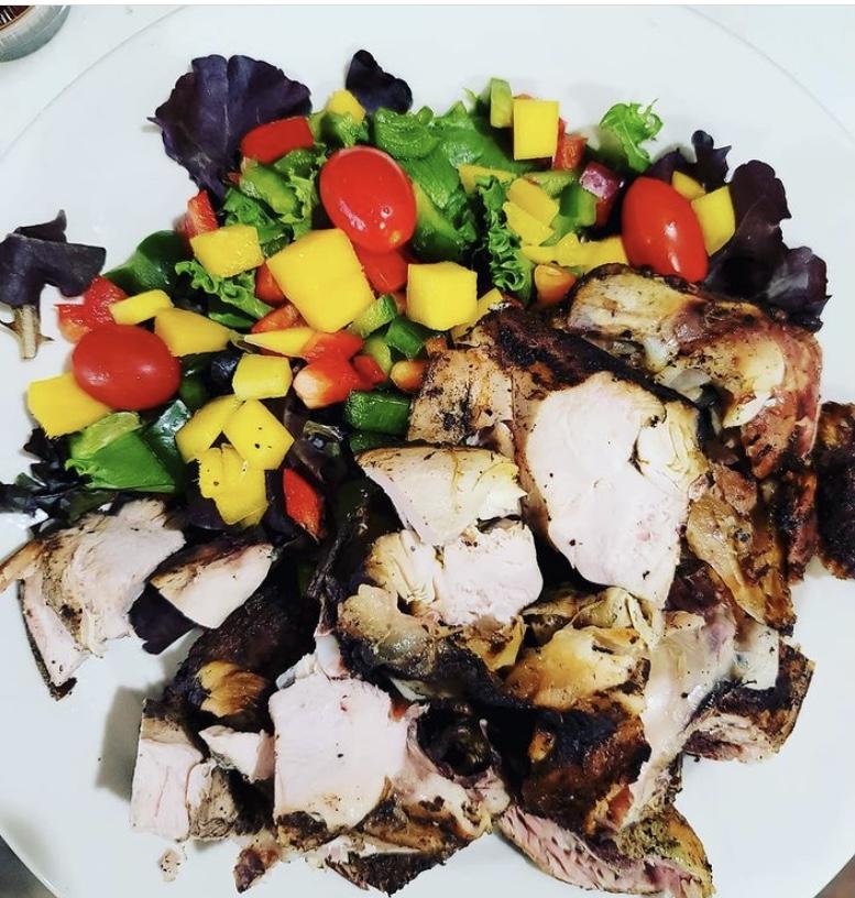 Jerk Chicken Avocado Salad